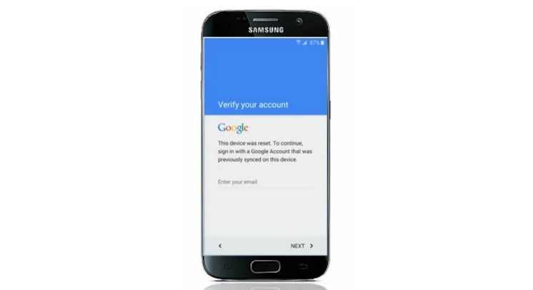 google account verification locked device